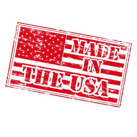 office products: HECHO EN LOS EE.UU. Sello de goma
