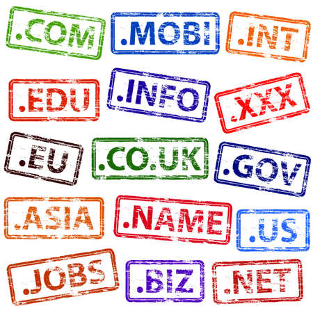 domains: Domain Name Rubber Stamps