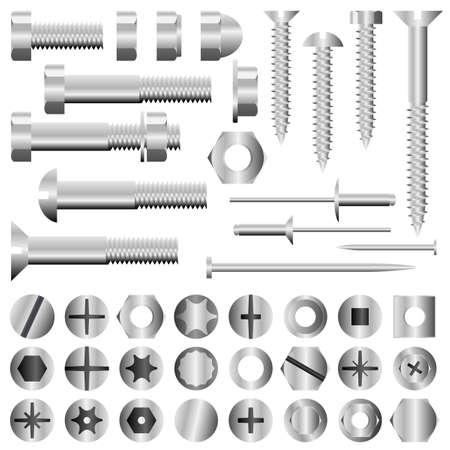 tornillos: Juego de tornillos, tuercas, tornillos y remaches