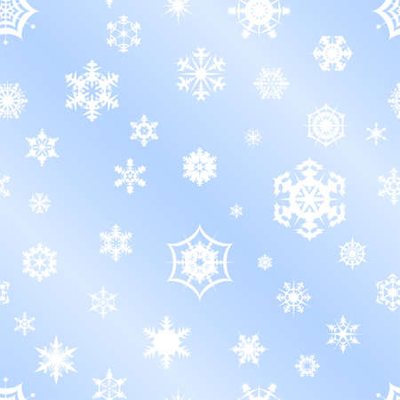 Repeating vector snowflake background Stock Vector - 11191456