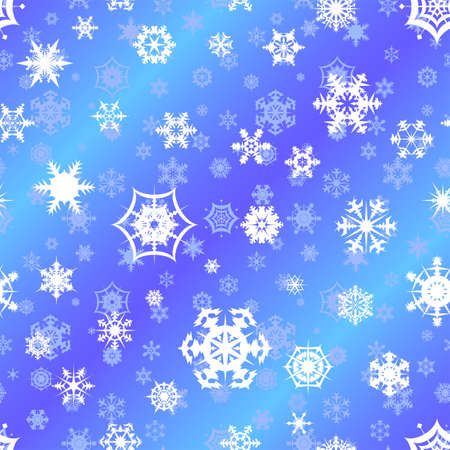Repeating vector snowflake background Vector