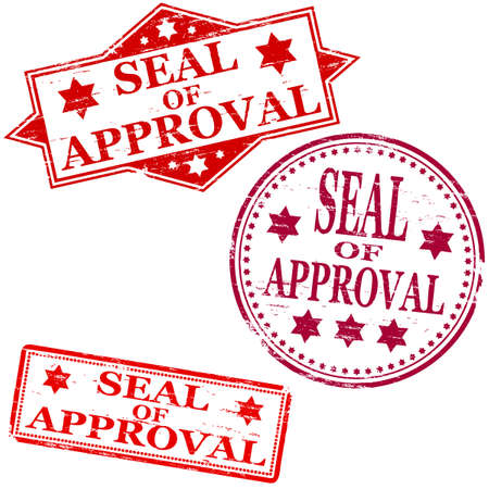 Seal of approval. Rubber stamp vectors Stock Vector - 11191457