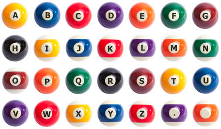 pool ball: Pool ball alphabet