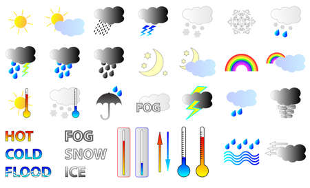 Weather forcast  Icons Vector