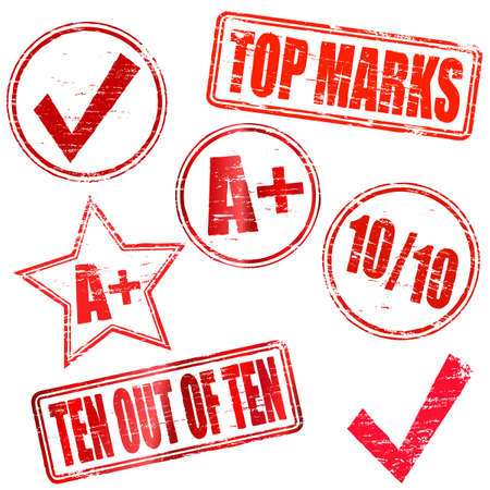 Ten out of Ten Rubber stamps Vector
