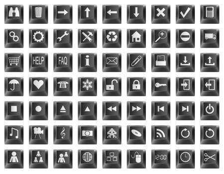 Black keyboard button symbols and icons. Stock Vector - 11838524