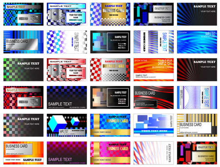 High tech modern business card designs Stock Vector - 14351083