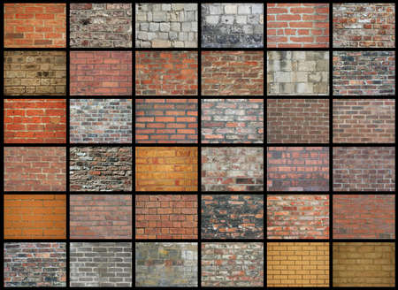 Collection of brick wall backgrounds and textures photo