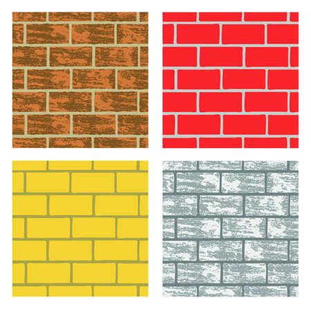 entrada da garagem: Parede de tijolos Seamless fundos em cores diferentes repetindo