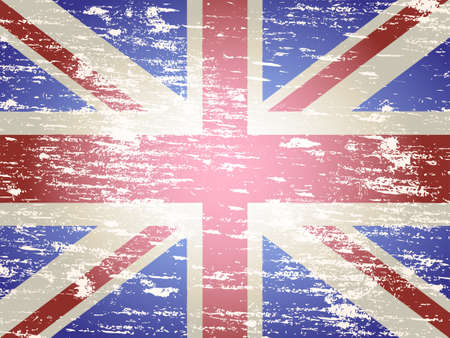 faded: Grungy faded and distressed Union Jack flag background