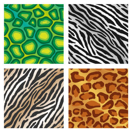 leopard gecko: Seamless repeating colorful animal print backgrounds illustrations Illustration