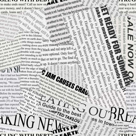 Black and white repeating torn newspaper background Vector