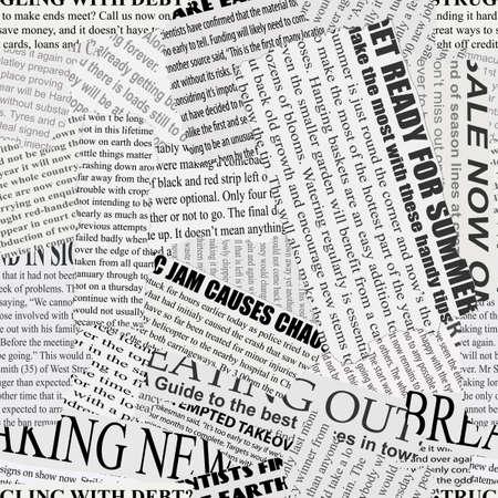 Czarno-białe tło powtarza rozdarty gazeta