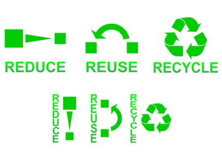 Reduce, reuse and recycle symbols concept illustration Stock Vector - 16166461