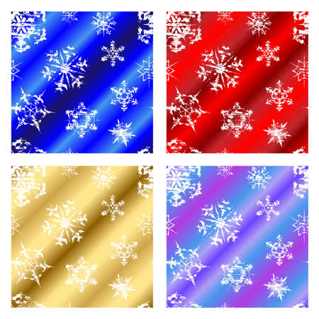 Seasonal christmas snowflake repeating background illustrations Stock Vector - 16300664