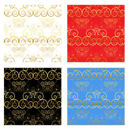 Decorative luxury gold backgrounds. Seamless repeating pattern Stock Vector - 16407299