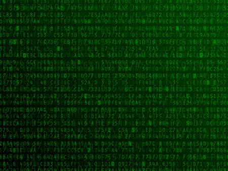 codigo binario: Los números hexadecimales letras y el fondo ilustración vectorial