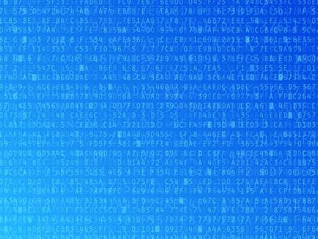 code computer: Los n�meros hexadecimales letras y el fondo ilustraci�n vectorial