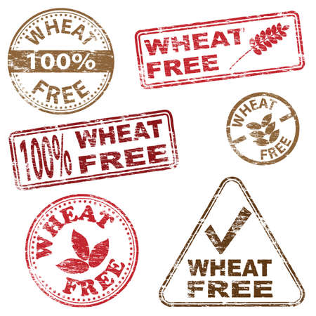 Wheat free food. Rubber stamp vector illustrations Stock Vector - 17222860