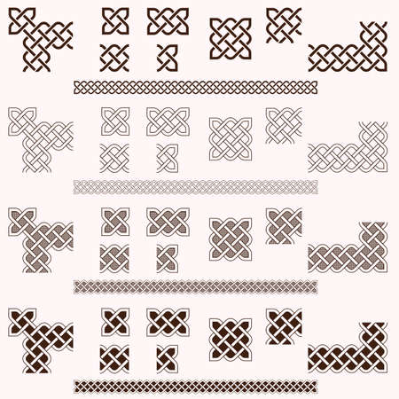 Decorative Celtic border vector elements  Vector