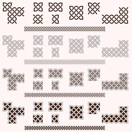 Decorative Celtic border vector elements
