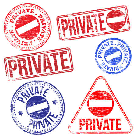 Rectangular and round private rubber stamp Stock Vector - 18933157