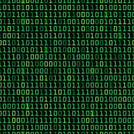 Binary computer code repeating vector background illustration Illustration
