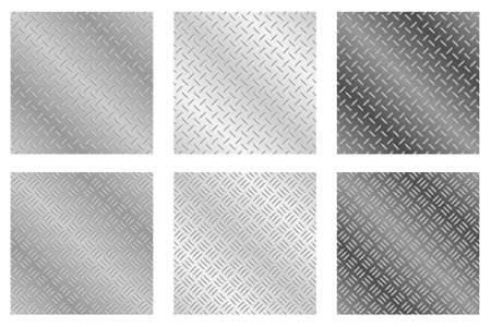 Repeating, tileable chequer plate metal background vector illustrations