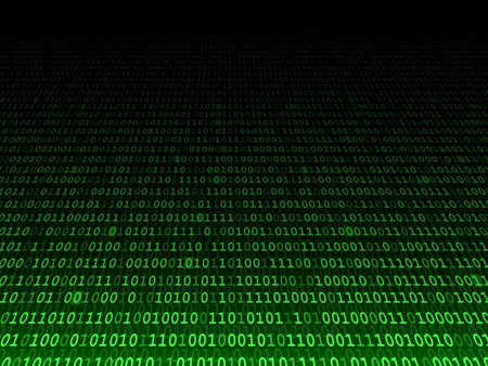 computer code: Green binary computer code. Fading background illustration