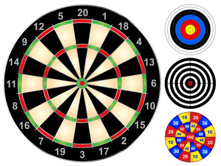 Dart board and other target games
