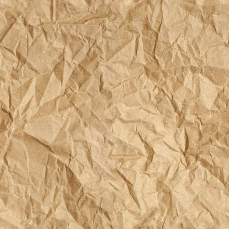 Repeating crumpled brown parcel packing paper background texture  Tileable wallpaper repeats left, right, up and down