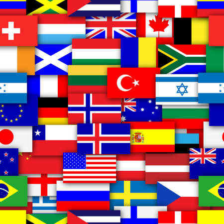 Flags of the world repeating tileable background wallpaper   photo