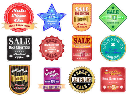 Sale and special offer labels vector illustration