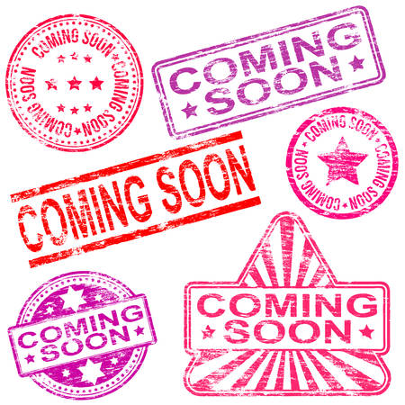 coming: Rectangular, triangular and round coming soon rubber stamp