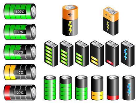 battery charger: rectangular and cylindrical batteries with charge state indication