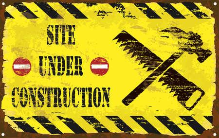 battu: Site en construction rouill�e de signe d'�mail