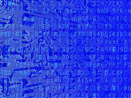 code computer: C�digo de ordenador y de circuitos ilustraci�n Foto de archivo