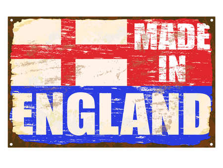 rusting: Made in England rusty old enamel sign