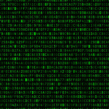 Green hexadecimal computer code repeating vector background wallpaper  Illustration