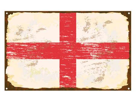 rusting: English flag on rusty old enamel sign