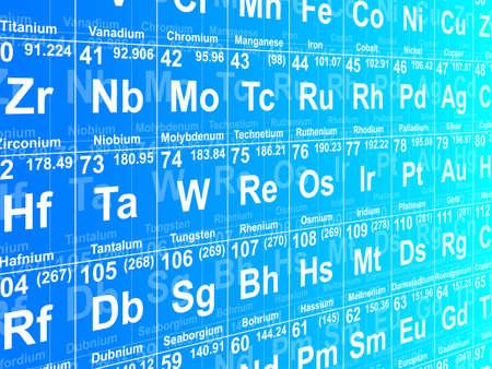 Tabla periódica de los elementos. Ilustración del fondo Foto de archivo - 24932338