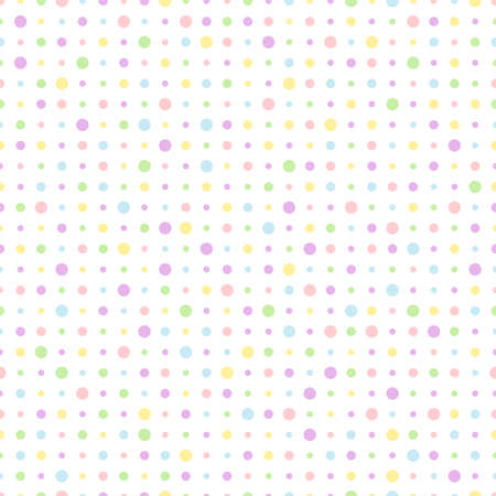 pastel colored: Repeating wallpaper background of pastel colored dots