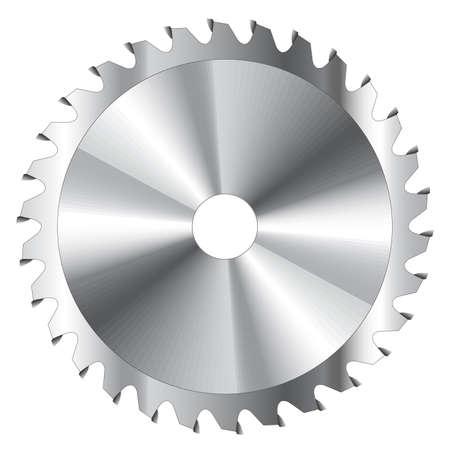 Wood cutting circular saw blade vector illustration