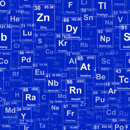 periodic table: Periodic table of the elements. Background illustration. Repeating tileable vector illustration that repeats left, right, up and down  Illustration