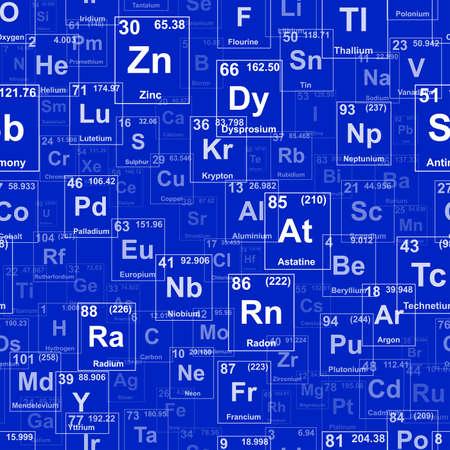 Periodiek systeem van de elementen. Achtergrond illustratie. Herhaling van betegelbare vector illustratie dat links herhaalt, rechts, omhoog en omlaag