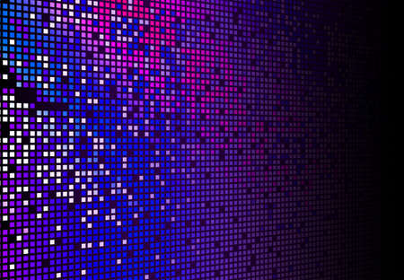 tec: Hi tec fading blue and magenta mosaic background Stock Photo