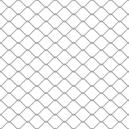 link fence: Repeating chain link fence. Tileable vector wallpaper that repeats left, right, up and down
