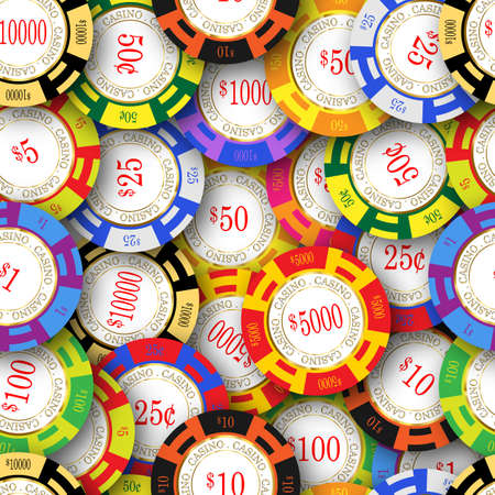american roulette: American casino chips. Seamless image that repeats left, right, up and down