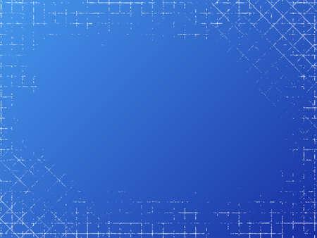 Grungy industrial texture on blue background. Vector illustration Stock Illustratie