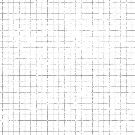 grimy: Repeating grunge squared mesh background. Tileable vector wallpaper that repeats left, right, up and down